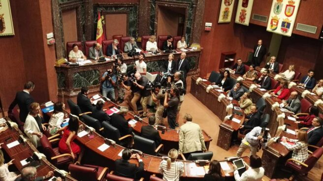 Sesión de investidura en el parlamento de Murcia.