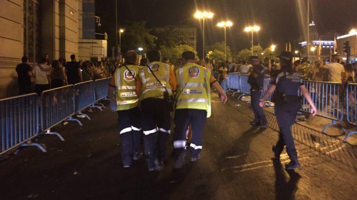 Accidente en una carroza del Orgullo de Madrid.