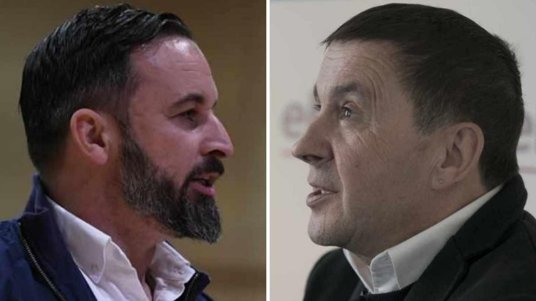 Santiago Abascal y Arnaldo Otegi, líderes de Vox y Bildu, respectivamente