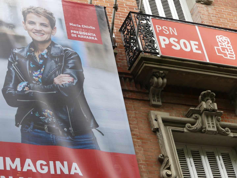 Cartel electoral de María Chivite, candidata del PSN.
