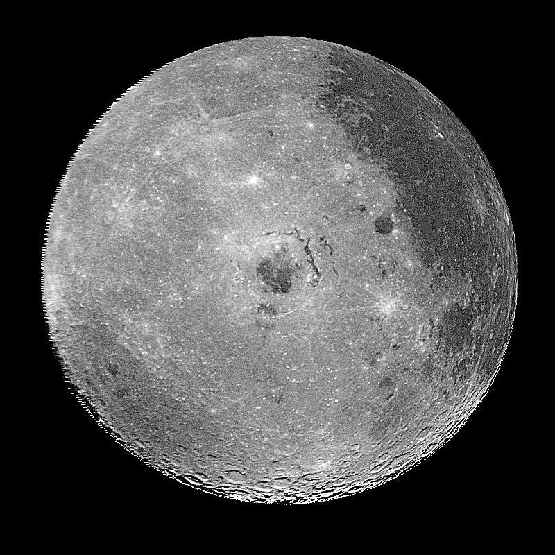El hemisferio oeste de la luna fotografiado en 1996 | NASA