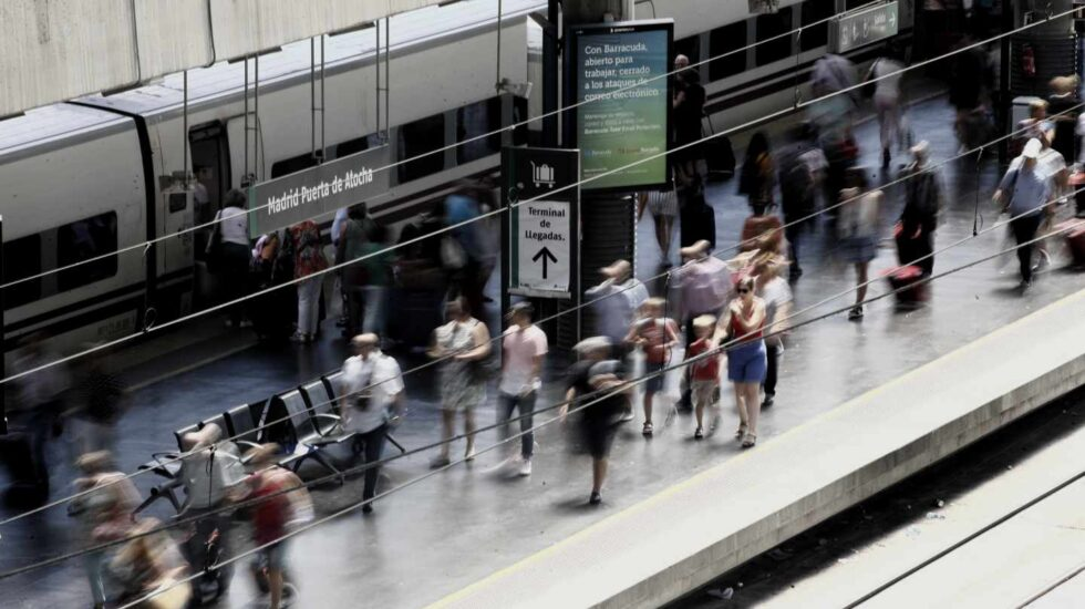 Huelga de Renfe: estación de Atocha de Madrid.