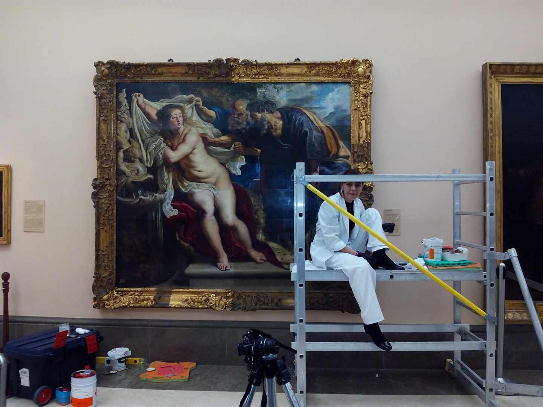 Restauración de 'Susana y los viejos', de Rubens.
