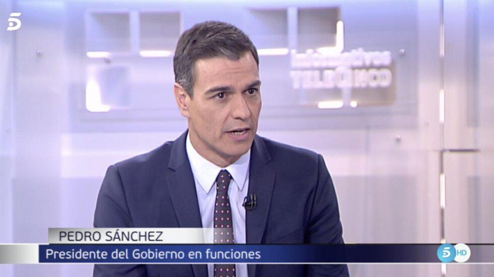 Pedro Sánchez, en Telecinco.