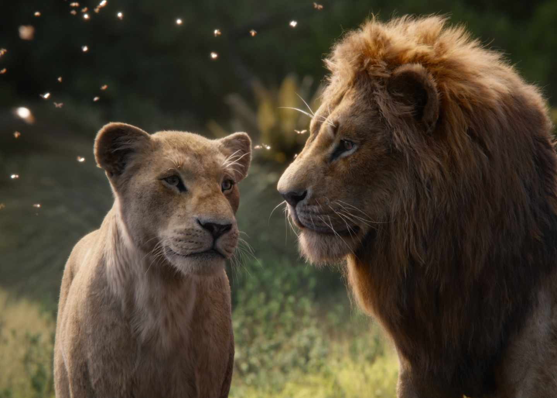 El rey león en CGI: Simba y Nala