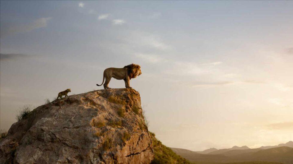 El rey león en CGI: Simba y Mufasa