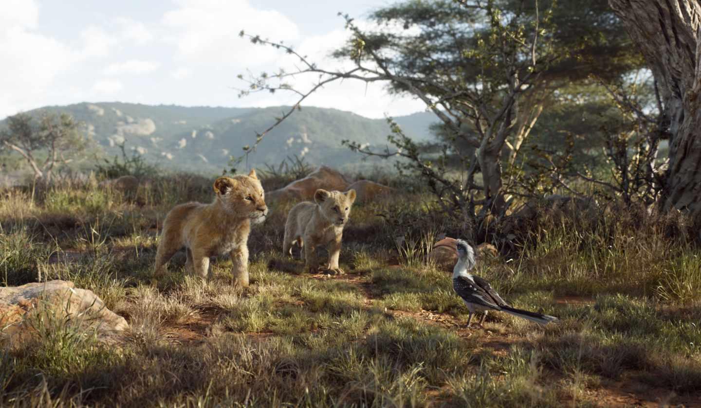 El rey león en CGI: Simba, Nala y Zazú