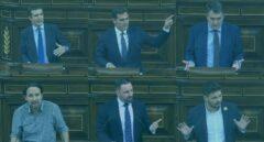 Los líderes políticos durante el debate de investidura