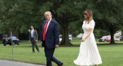 El presidente de EEUU, Donald Trump, junto a su esposa Melania, nacida en Eslovenia.