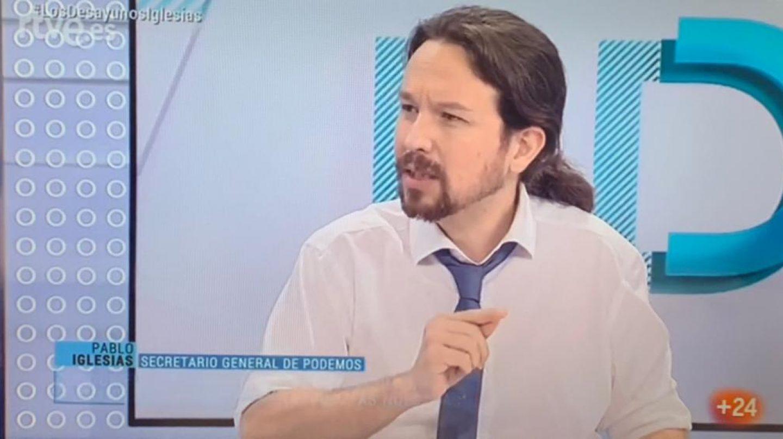 Pablo Iglesias en TVE.