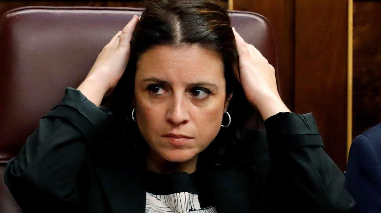 Adriana Lastra, en el Congreso durante la sesión de investidura.