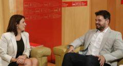 Adriana Lastra y Gabriel Rufián, este martes en el Congreso.