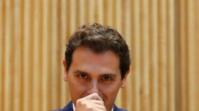 Albert Rivera, este jueves en el Congreso de los Diputados.