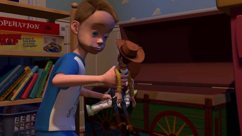 Fotograma de Andy en 'Toy story'