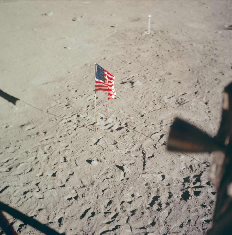 Foto tomada el 20 de julio de 1969 desde el módulo lunar | NASA