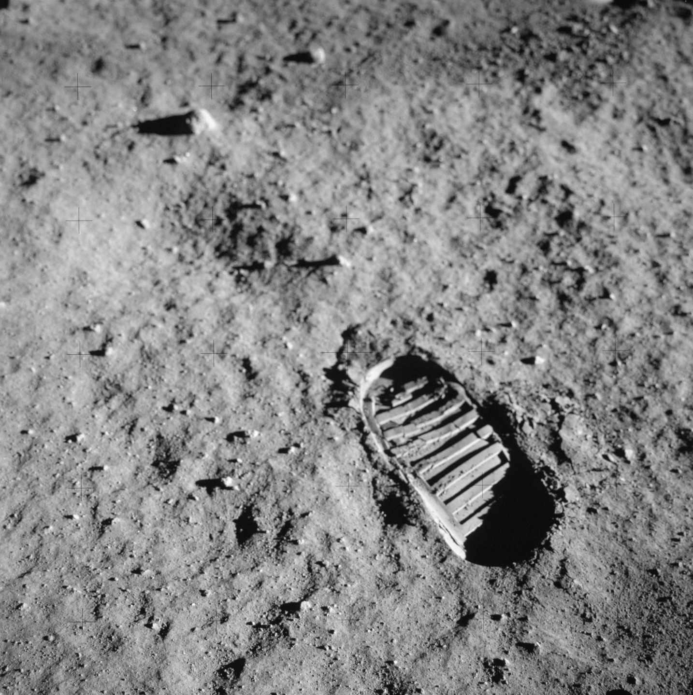 Una huella de astronauta fotografiada el 20 de julio de 1969 | NASA