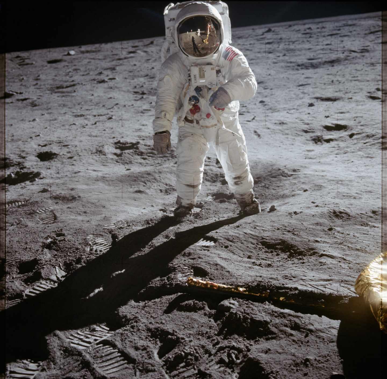 El astronauta Buzz Aldrin pisando la luna el 20 de julio de 1969 | NASA