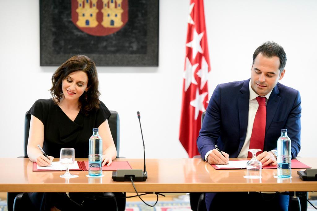 Isabel Díaz Ayuso e Ignacio Aguado.