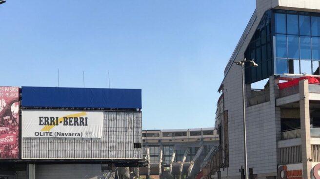 El Vicente Calderón, en pleno proceso de demolición.