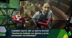 Carmen Calvo, durante su entrevista en 'La Sexta Noche'.