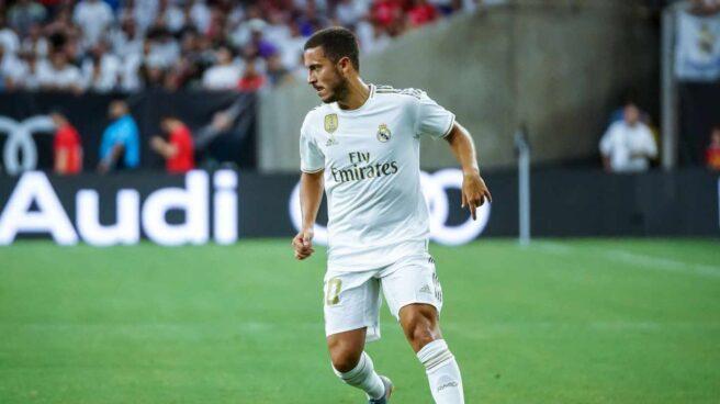 Eden Hazard, durante su debut con el Real Madrid.