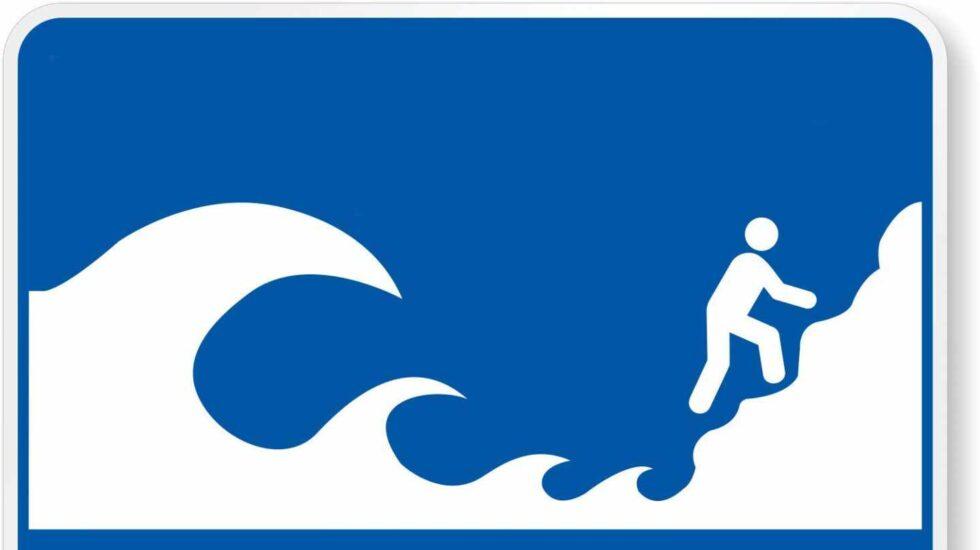 Señal de 'Peligro de Tsunami'