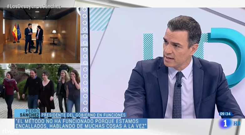 Pedro Sánchez, en la entrevista de TVE.