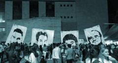 Homenaje a cuatro etarras presos.