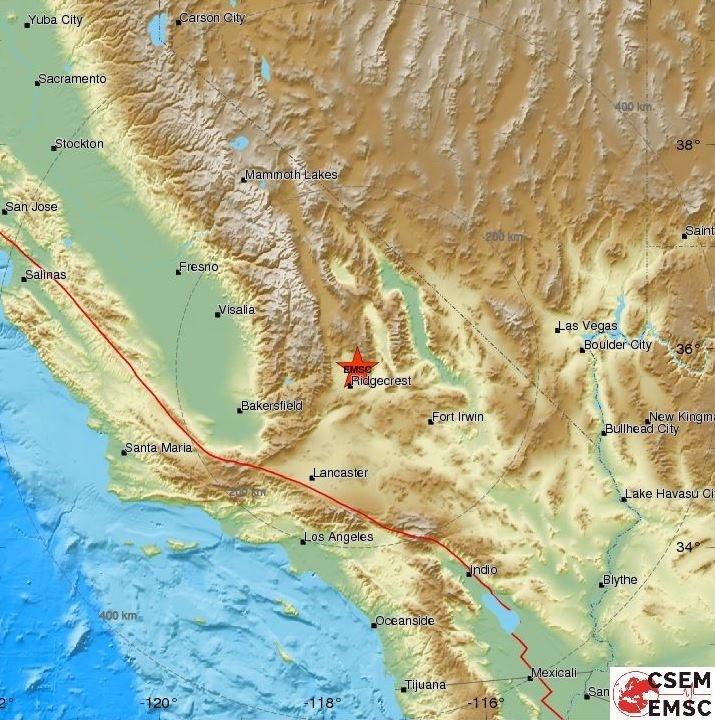 Terremoto de California 6 de julio de 2019