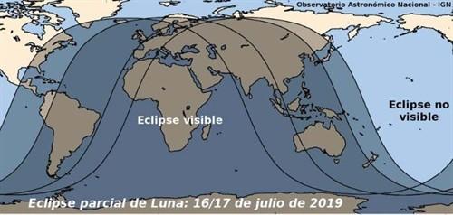 Eclipse lunar visible 16 de julio