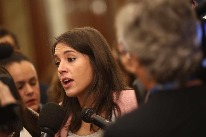 Irene Montero, en el Congreso de los Diputados en octubre de 2017.