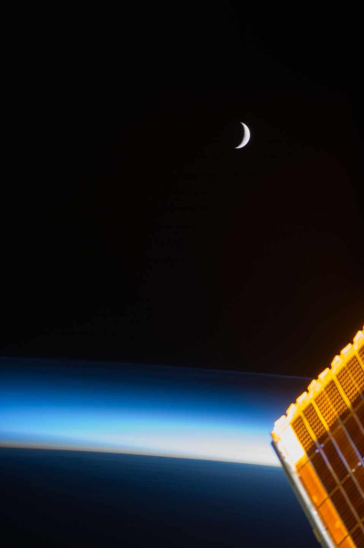 La Luna desde la Estación Espacial Internacional en 2013 | NASA