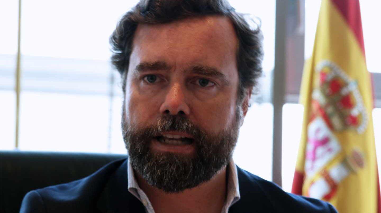Iván Espinosa de los Monteros en su despacho en el Congreso durante la entrevista