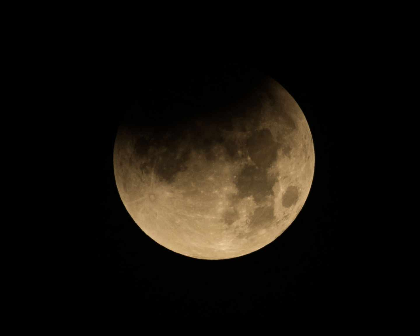 Eclipse lunar en enero de 2018 fotografiado en el Johnson Space Center de Houston | NASA/Robert Markowitz