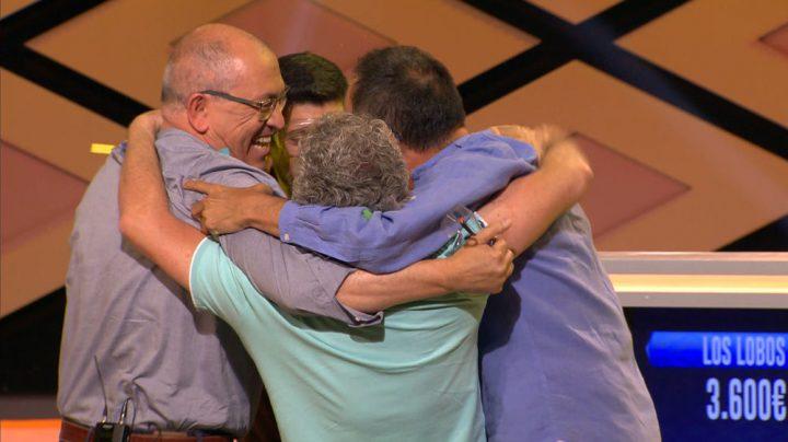 'Los Lobos' celebran su histórica victoria en Boom, donde se han llevado un bote de casi 6,7 millones de euros.