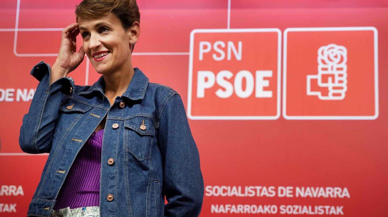 La candidata del PSOE a la presidencia de Navarra, María Chivite.