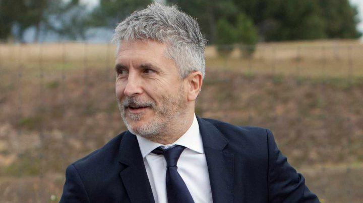 El ministro del Interior, Fernando Grande-Marlaska, este lunes en Portugal.