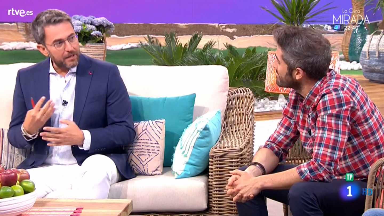 El ex ministro Máximo Huerta, en su regreso a TVE con 'A partir de hoy'.