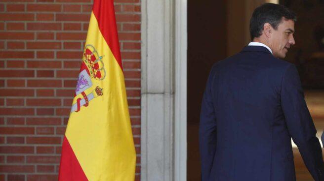 Pedro Sánchez, presidente del Gobierno en funciones, en La Moncloa.