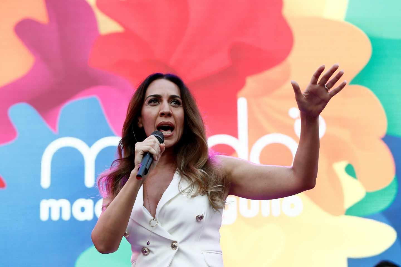 Mónica Naranjo, durante el pregón del Orgullo LGTB.
