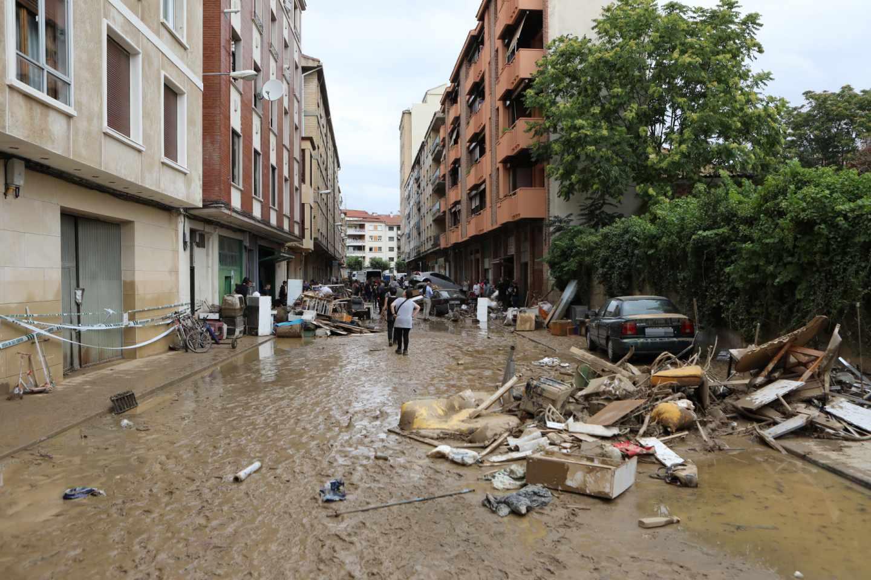 Una de las zonas afectadas por la inundaciones.