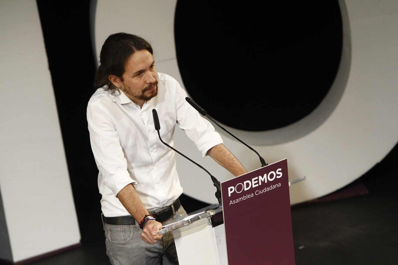 Pablo Iglesias, en un mítin en el año 2014.