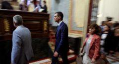 Pedro Sánchez entra en el Congreso de los Diputados.