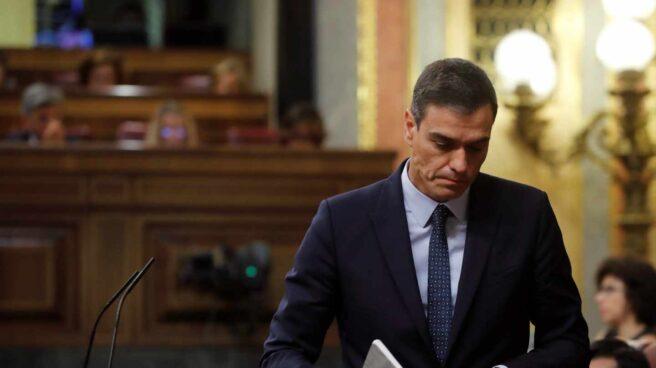 Pedro Sánchez, durante la segunda sesión del debate de investidura.
