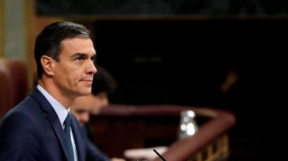 Pedro Sánchez, este jueves en el Congreso de los Diputados.