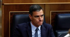 Pedro Sánchez, en el Congreso de los Diputados durante la sesión de investidura.