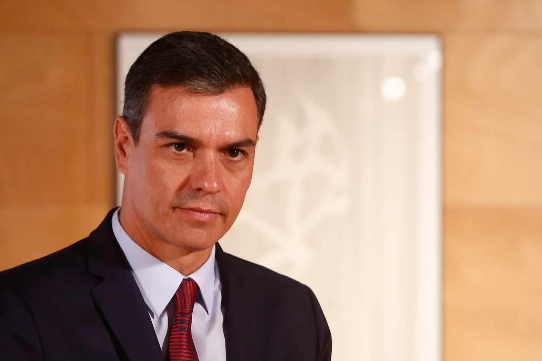 Pedro Sánchez, en el palacio de Moncloa.