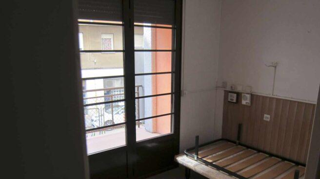 Habitación de un piso vacío, en Barcelona.