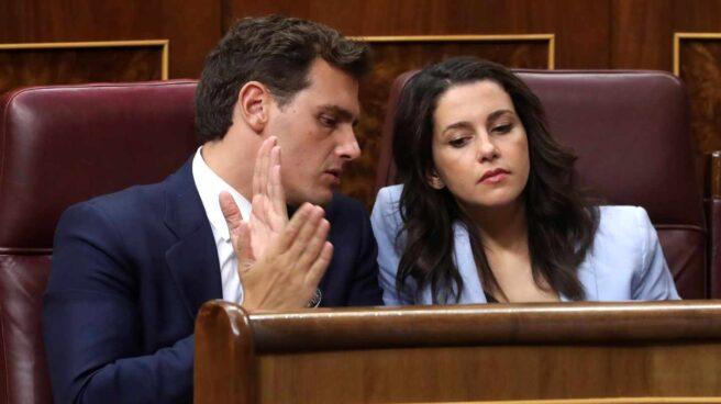 Albert Rivera e Inés Arrimadas, en el Congreso.