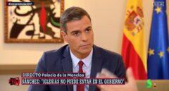 Pedro Sánchez, entrevistado por Antonio Ferreras antes de la primera investidura.